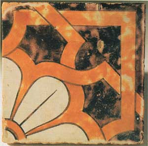 Майолика, ручная роспись, 20х20 см