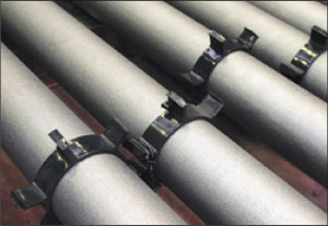 Рис. 1. Система оперативного дистанционного контроля (ОДК) в виде местных шин устанавливается по всей длине трубопровода на специальных фиксаторах