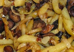 Как жарить картошку с грибами правильный рецепт