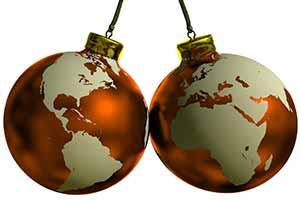Новогодние шары для путешественников