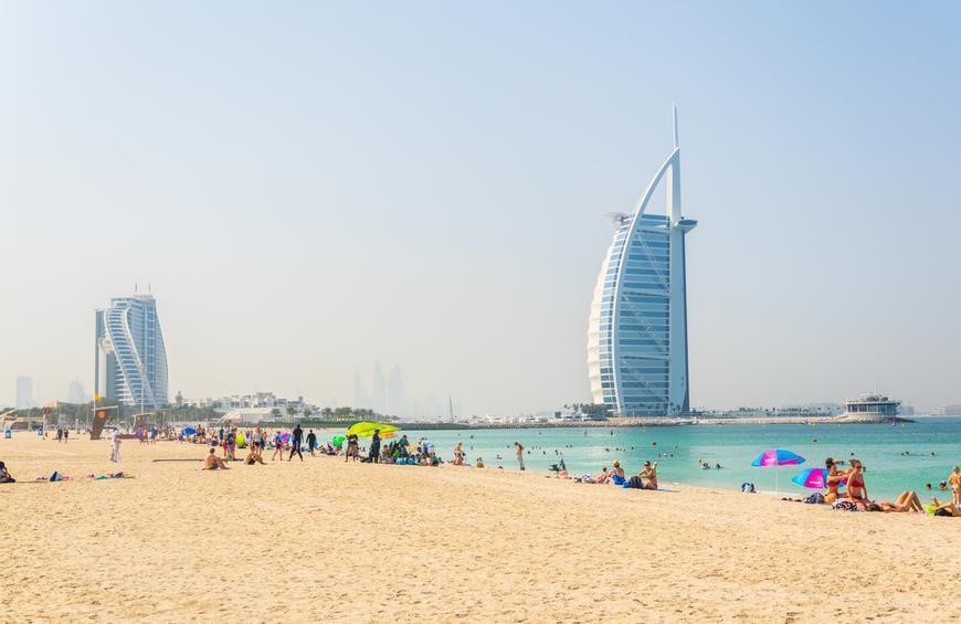 Открытый Пляж Джумейра (Дубай, Объединенные Арабские Эмираты)