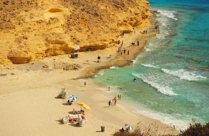 Пляж Агиба (Мерса-Матрух, Египет)